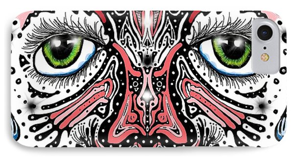 Doodle Face IPhone Case by Darren Cannell
