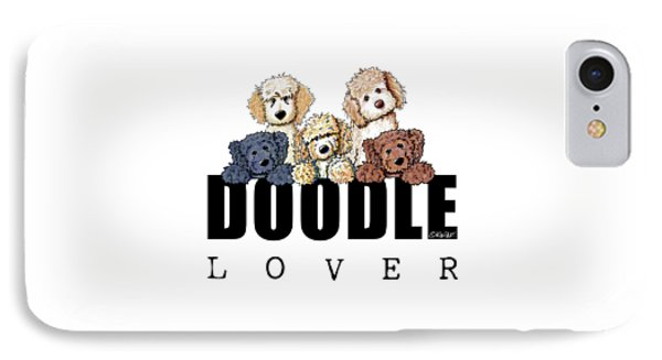 Doodle Lover Phone Case by Kim Niles