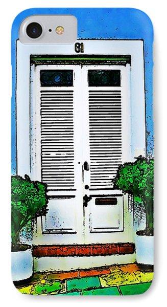 Door 61 Phone Case by Perry Webster