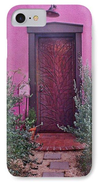 Door And Mailbox - Barrio Historico - Tucson IPhone Case by Nikolyn McDonald