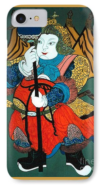 IPhone Case featuring the painting Door Guard No.2 by Fei A
