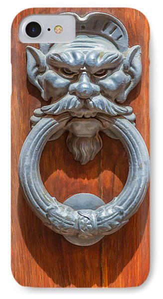 Door Knocker Of Tuscany IPhone Case by David Letts