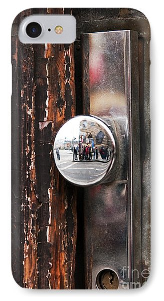 Door Reflections Phone Case by John Rizzuto