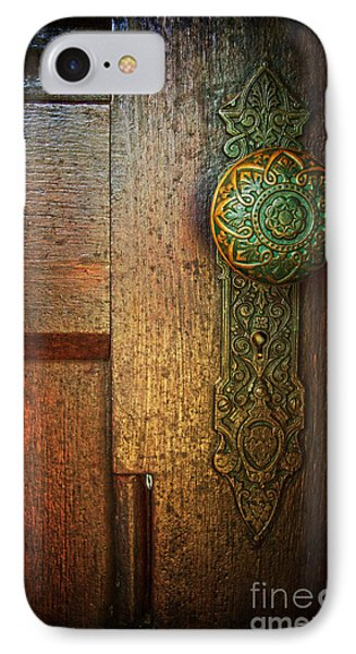 Doorknob IPhone Case by Debra Fedchin