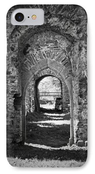Doors At Ballybeg Priory In Buttevant Ireland IPhone Case by Teresa Mucha
