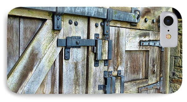 Doors At Caerphilly Castle IPhone Case by Judi Bagwell