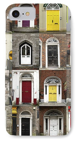 IPhone Case featuring the photograph Doors Of Limerick by Marie Leslie