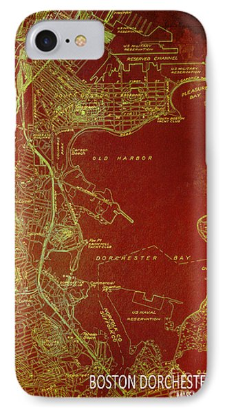 Dorchester Bay Old Map IPhone Case