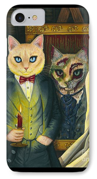 IPhone Case featuring the painting Dorian Gray by Carrie Hawks