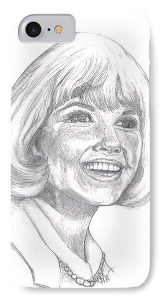 Doris Day  Phone Case by Carol Wisniewski