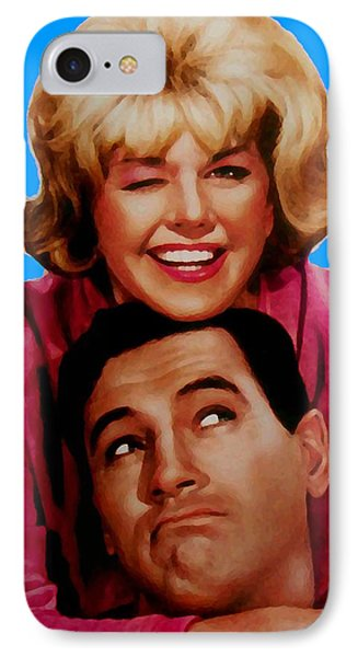 Doris Day Rock Hudson  Phone Case by Paul Van Scott