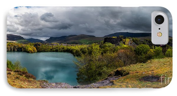 Dorothea Quarry Panorama IPhone Case by Adrian Evans