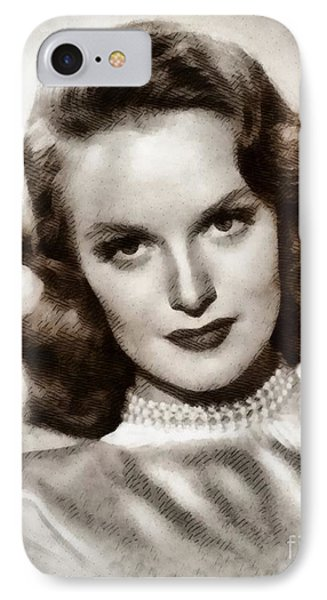 Dorothy Hart, Vintage Actress By John Springfield IPhone Case by John Springfield