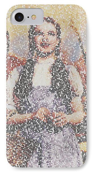 IPhone Case featuring the mixed media Dorothy Made Of Wizard Of Oz Quotes by Paul Van Scott