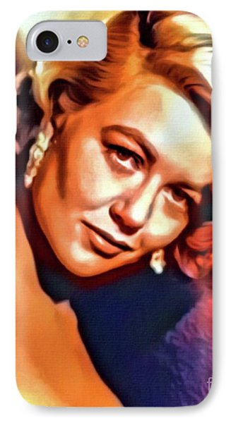 Dorothy Malone, Vintage Actress. Digital Art By Mb IPhone Case
