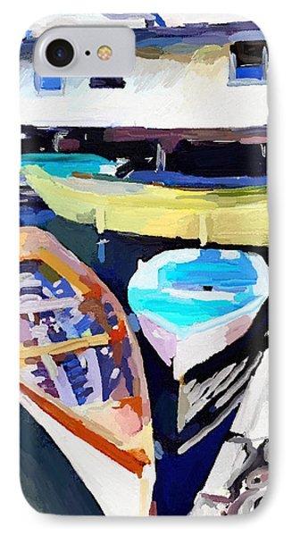 Dory Dock At Beacon Marine Basin - East Gloucester, Ma IPhone Case