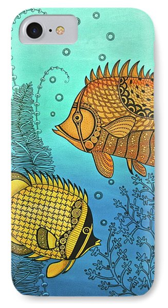 Dos Fishies IPhone Case by Stephanie Troxell