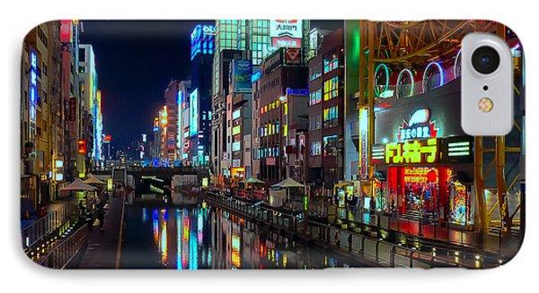 Dotonbori-gawa Canal At Night IPhone Case