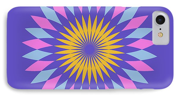 Double Abstract Purple Square IPhone Case by Pablo Franchi