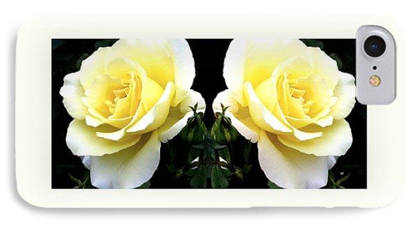 Double Cream Roses IPhone Case