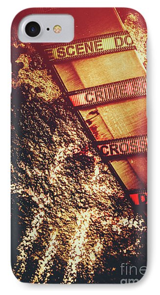Double Crossing Crime Scene Investigation IPhone Case by Jorgo Photography - Wall Art Gallery