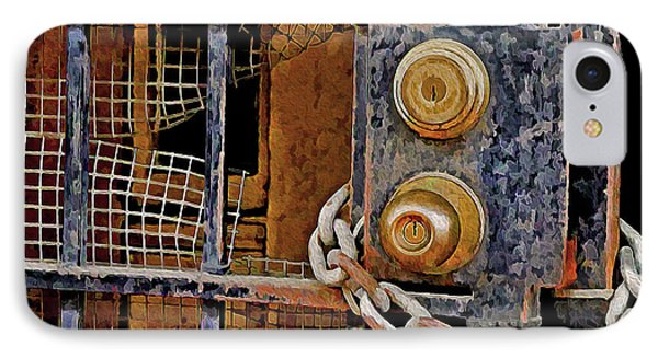IPhone Case featuring the mixed media Double Locked by Lynda Lehmann