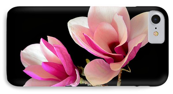 Double Magnolia Blooms IPhone Case
