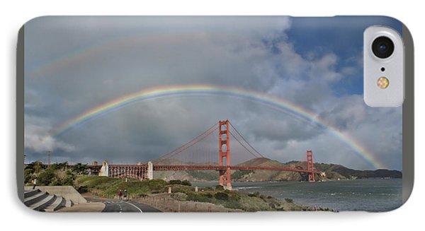 IPhone Case featuring the photograph Double Rainbow Golden Gate Bridge by Steve Siri