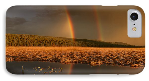 Secondary Rainbow Reflection IPhone Case by Leland D Howard