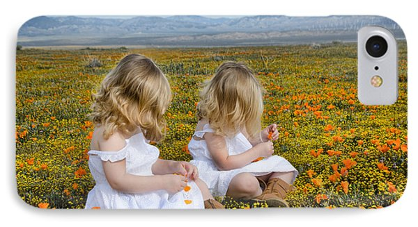 Double Take In A Poppy Field IPhone Case