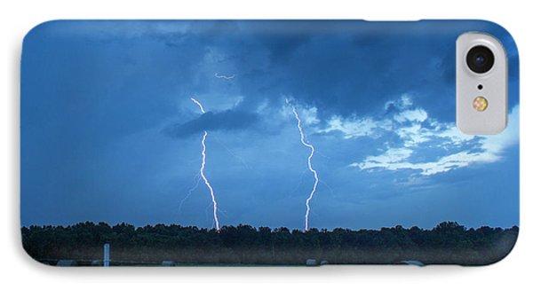 Double Trouble Dusk Thunderstorm Lightning Weather Art IPhone Case