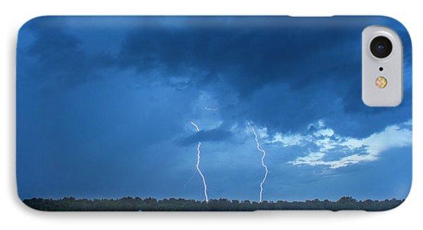 Double Trouble Too Dusk Thunderstorm Lightning Weather Art IPhone Case