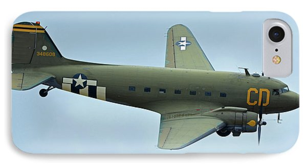 Douglas C-47b Dakota N47sj Betsy's Biscuit Bomber Chino California April 30 2016 Phone Case by Brian Lockett