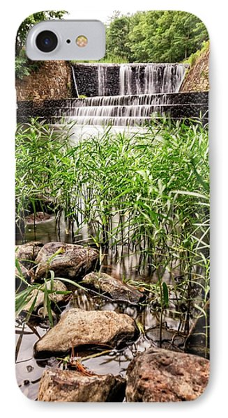 IPhone Case featuring the photograph Douthat Lake Dam by Alan Raasch
