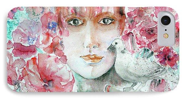 Dove IPhone Case by Jasna Dragun