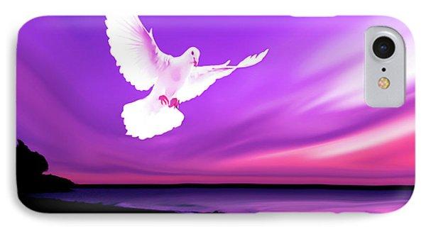 Dove Of My Dreams IPhone Case by Eddie Eastwood