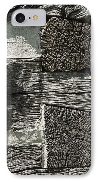 Dovetail Log Structure IPhone Case by Donald  Erickson