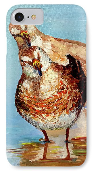 Dowitcher Birds IPhone Case by Janet Garcia