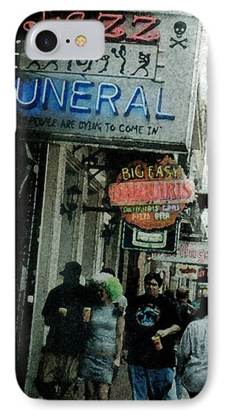 Down At The French Quarter IPhone Case by Saad Hasnain