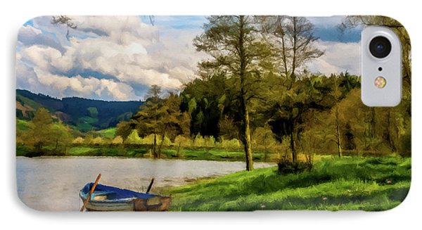 Down By The Lake Photodigitalpainting IPhone Case by David Dehner
