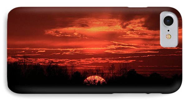 Down For The Count Sunset Art IPhone Case