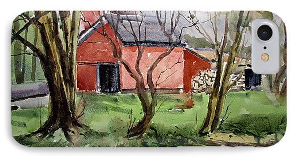 Down On Pipe Creek Plein Air Matted Glassed Framed IPhone Case by Charlie Spear
