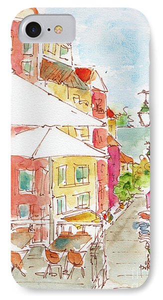 IPhone Case featuring the painting Down Rua Serpa Pinto Lisbon by Pat Katz