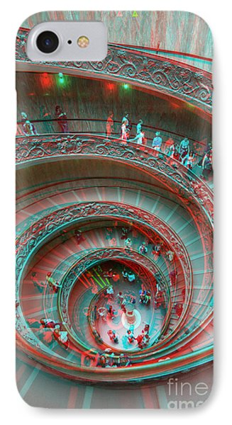 Down Stairs Anaglyph 3d IPhone Case by Stefano Senise