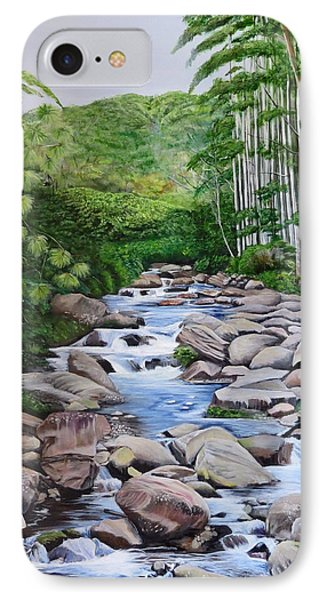 Down Stream  IPhone Case by Marilyn McNish