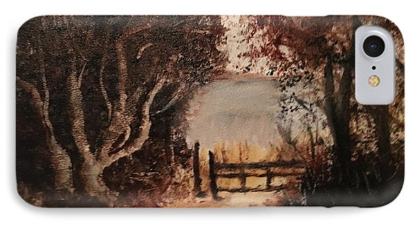Down The Path IPhone Case by Sharon Schultz