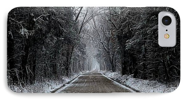 Down The Winter Road IPhone Case