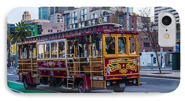 Down Town Trolly Car Phone Case by Brian Williamson