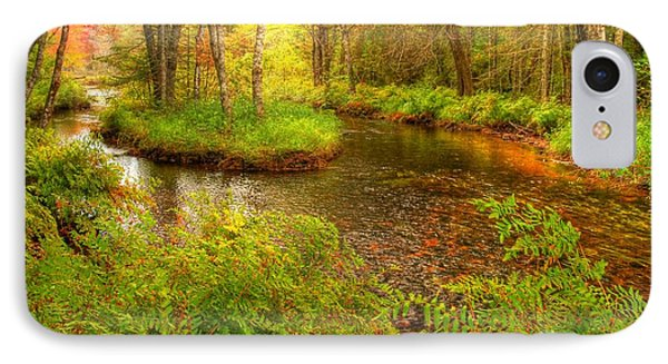 IPhone Case featuring the photograph Downeast Fall Stream by Alana Ranney