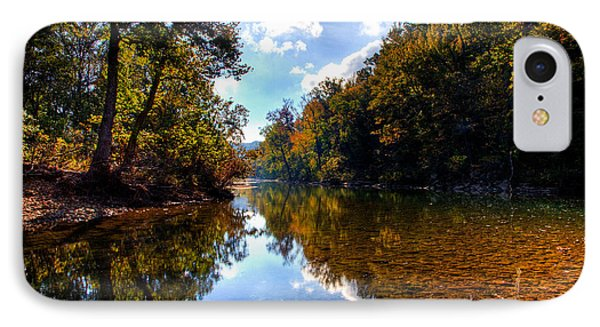 IPhone Case featuring the photograph Downriver At Ozark Campground by Michael Dougherty